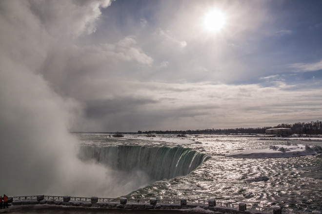 Sunshine in February Niagara Falls, Ontario Canada