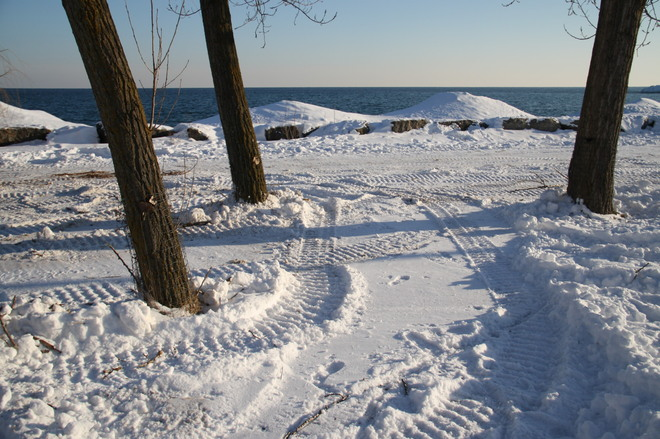 Bluffer's Park in February Scarborough, Ontario Canada