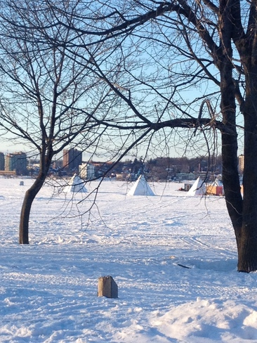 Outdoor activities at Minet's point Barrie, Ontario Canada