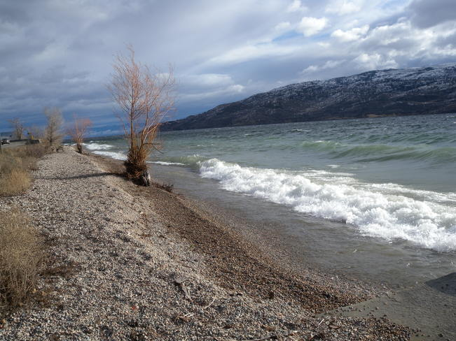 Surging Lake Waves Peachland, British Columbia Canada