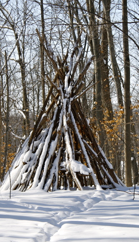 teepee in the woods London, Ontario Canada