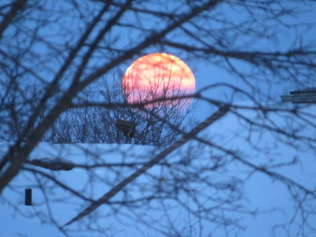 Very cool looking moon in the morning! Brantford ON