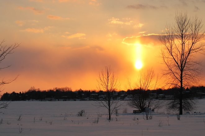 Sunset at Lemoine point Kingston, Ontario Canada