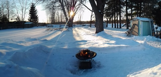 Sunset in the winter Bowmanville, Ontario Canada