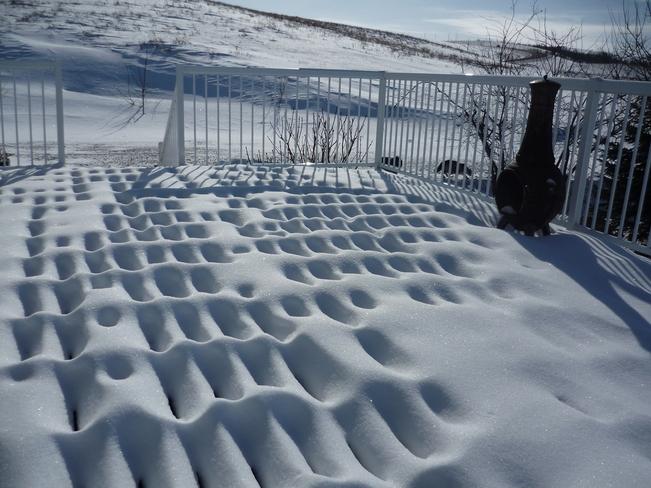 Snow Deck Lumsden, Saskatchewan Canada