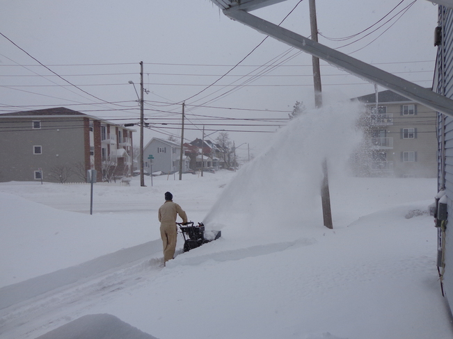 snow blowing Moncton, New Brunswick Canada