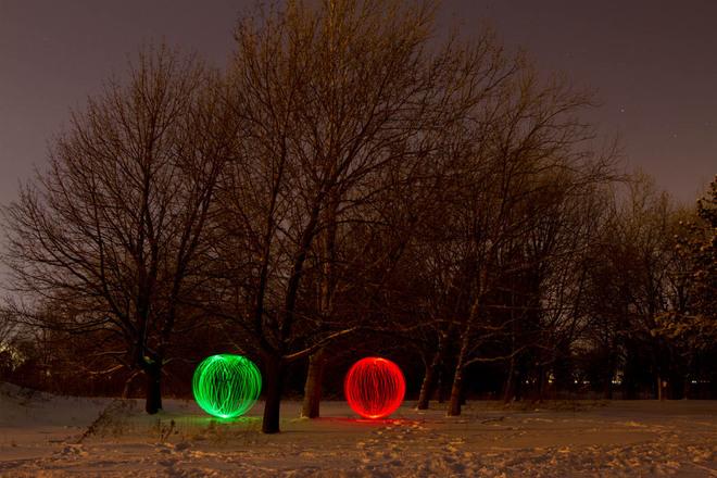 Orbs under moonlight Stoney Creek, Ontario Canada