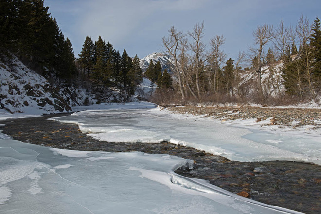 Winter in Waterton Lethbridge, Alberta Canada