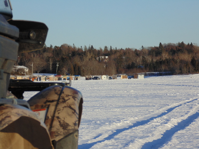 Ice Fishing@Cameron Cove Rothesay, New Brunswick Canada