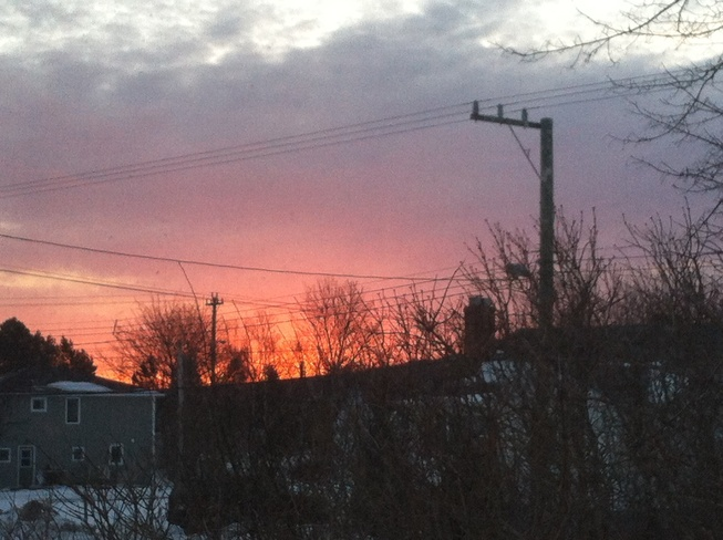 pink sky in the morning Carbonear, Newfoundland and Labrador Canada