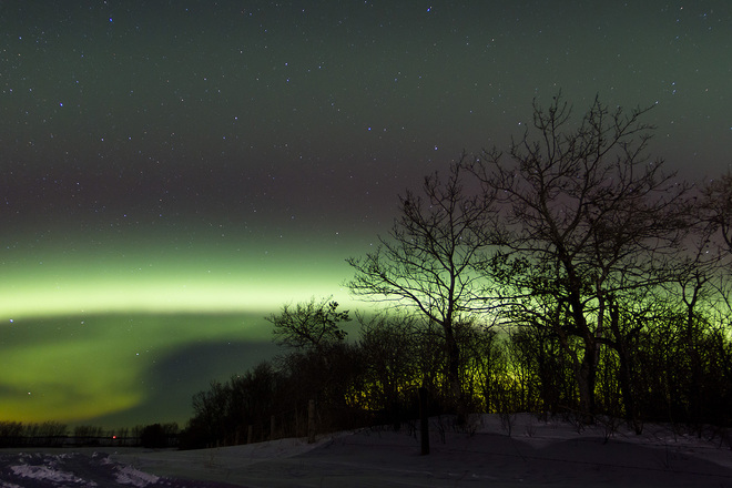 Northern Lights on the Farm Willowbrook, Saskatchewan Canada
