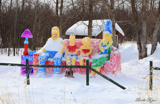 Simpsons On Ice Powerview, Manitoba Canada
