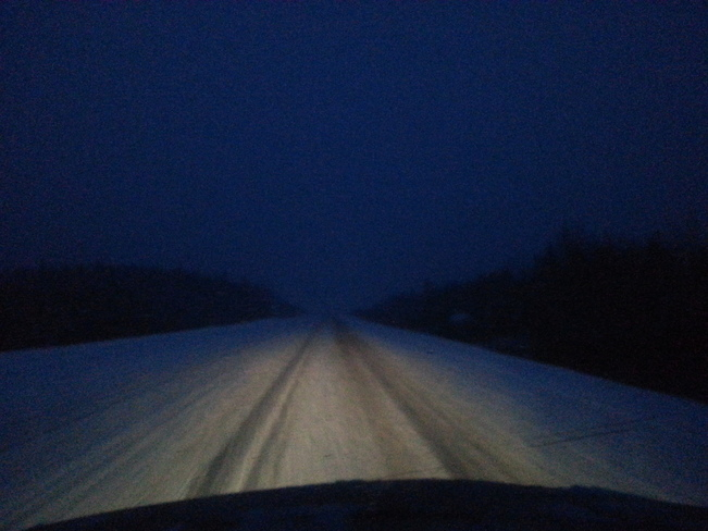 Highway Last Night Glovertown, Newfoundland and Labrador Canada