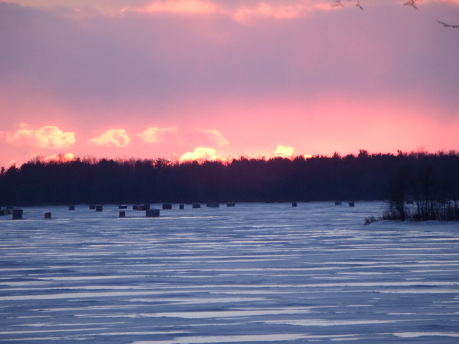 Sunset over the St. Lawrence Long Sault, Ontario Canada