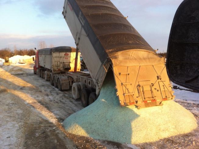 Tompkins Bros has salt Belleville, Ontario Canada