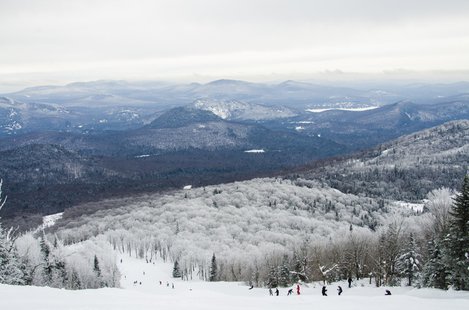 Skiing at trembling Mont-Tremblant, Quebec Canada