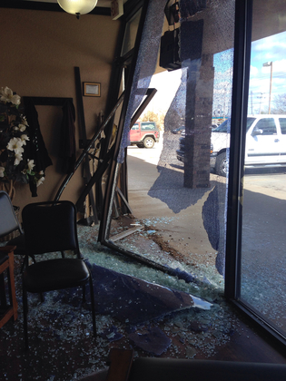 car went thru Cut Ups Salon