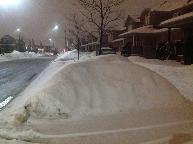 My street Mississauga, Ontario Canada