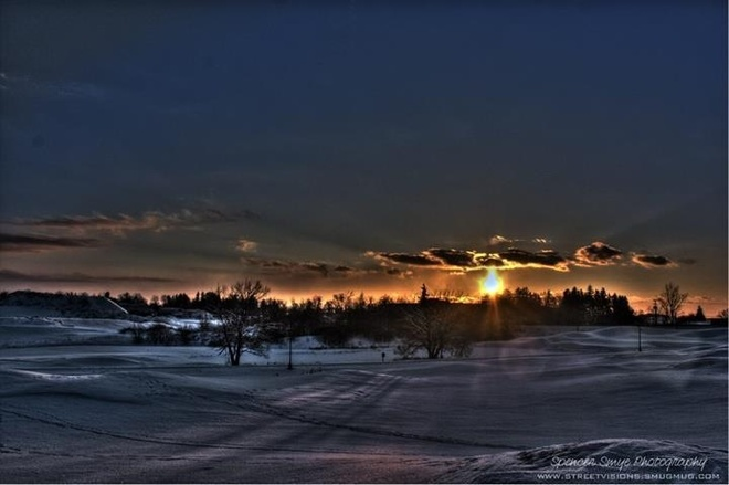 beautiful HDR Sunset Mount Hope, Ontario Canada