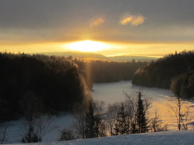 Tobique River sunrise Plaster Rock, New Brunswick Canada