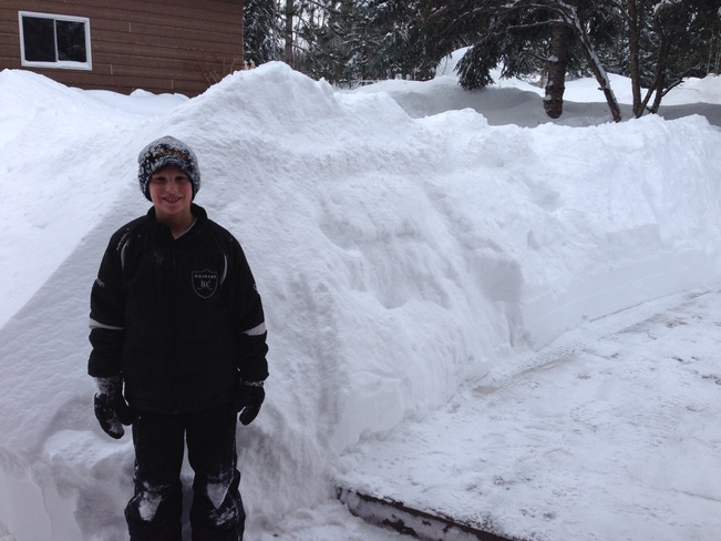 6 foot plus snow banks Slate River Valley, Ontario Canada