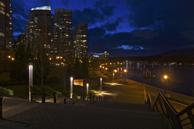 Sundown in Coal Harbour.