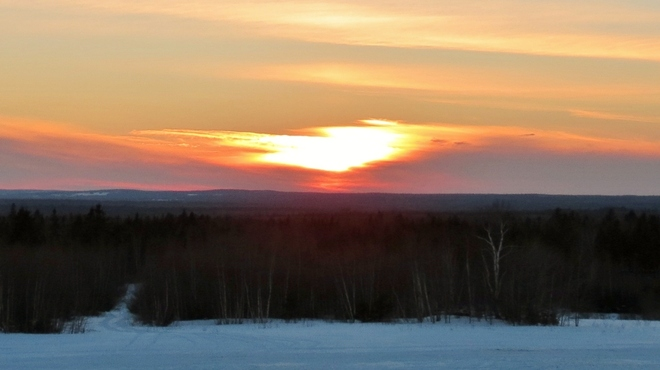 Sunset on Feb. 9th. Moncton, New Brunswick Canada