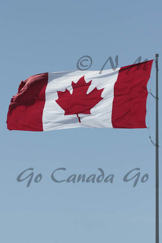 big wind steach the flag Guelph, Ontario Canada