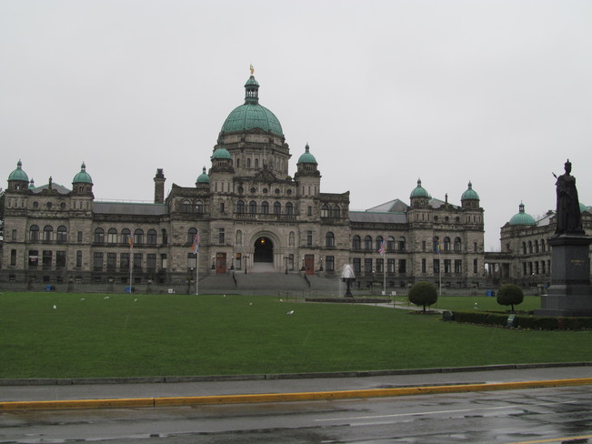 The big snowstorm in Victoria Victoria, British Columbia Canada