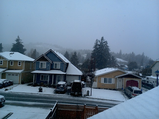 snow Langford, British Columbia Canada