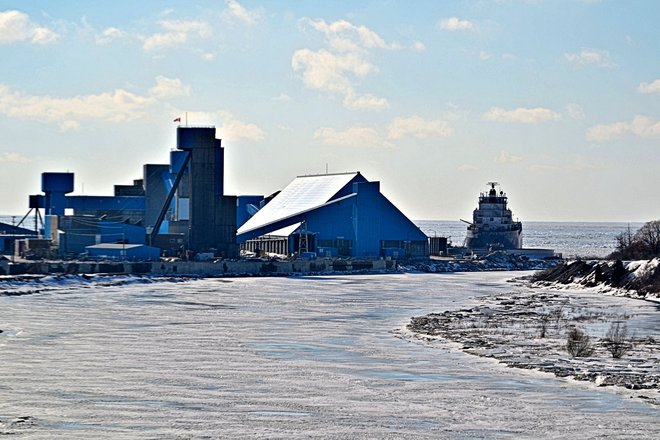 Winter Dockage at the Salt Mine Goderich, Ontario Canada