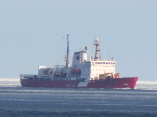 Coast Guard Breaking the Ice Hope Town, Quebec Canada