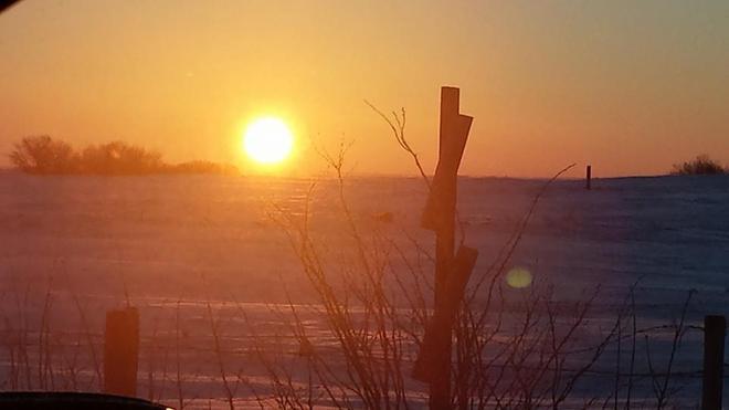A Prairie Sunrise Buena Vista, Saskatchewan Canada