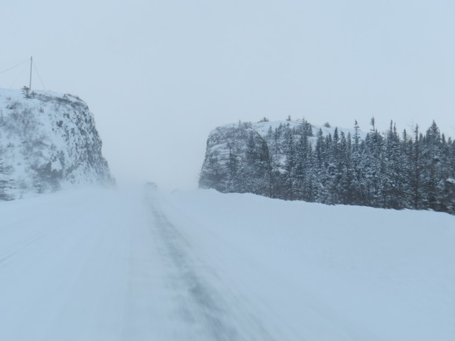 Roads snow coved Rushoon, Newfoundland and Labrador Canada