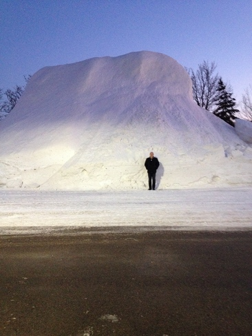 Now that's a snow bank! Waterloo, Ontario Canada