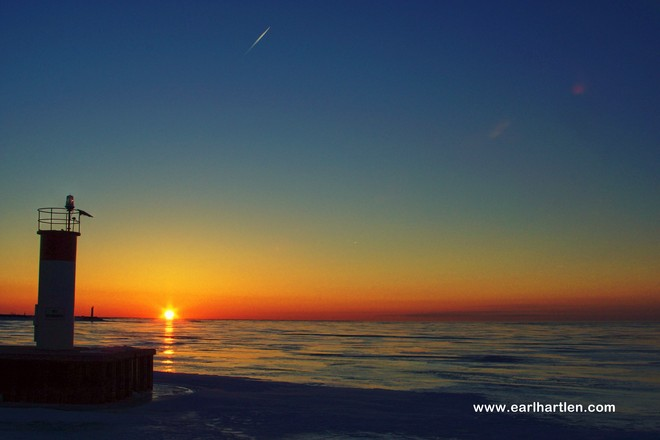 Cold And Clear At The Pier Port Dover, Ontario Canada