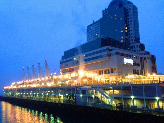 Twilight at Canada Place Vancouver, British Columbia Canada