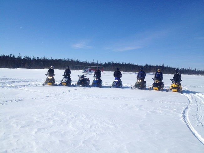 Sledding In Bay Du Nord Wilderness Reserve, NL Clarenville, Newfoundland and Labrador Canada