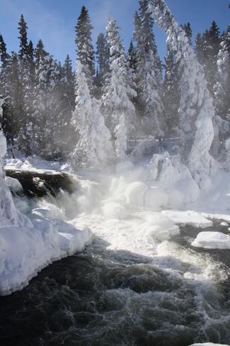 Wekusko Falls Snow Lake, Manitoba Canada