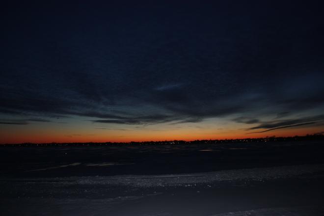 Vue sur le lac Saint-Jean-sur-Richelieu, Quebec Canada