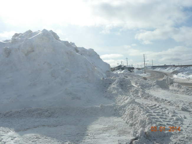 SNOW BANKS Channel-Port aux Basques, Newfoundland and Labrador Canada