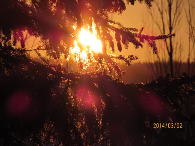 belle couleuravant le coucher Saint-Georges-Est, Quebec Canada