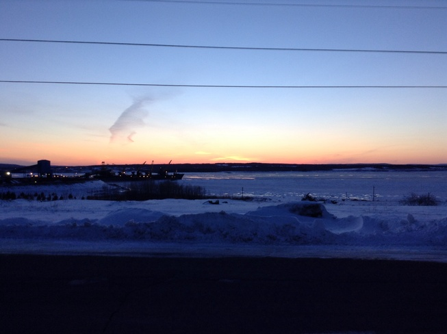 Sunset during Very Cold Day Sydney, Nova Scotia Canada