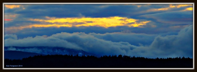 Storm Coming in over the Malahat Hills North Saanich, British Columbia Canada