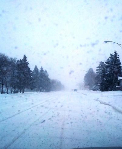 Snow on Broadway Fort Qu'Appelle, Saskatchewan Canada