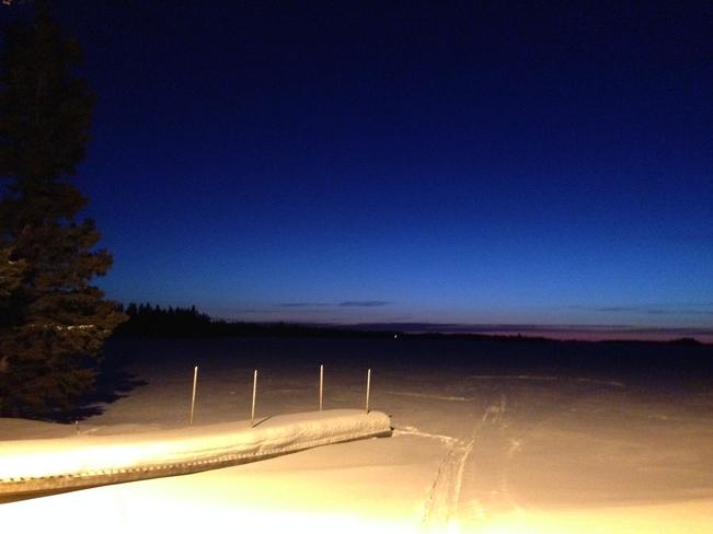Indego over snow Consol (Cranberry Portage), Manitoba Canada