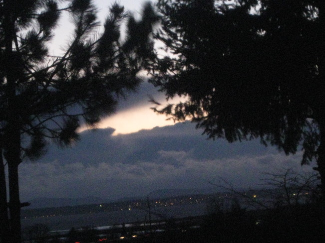 thick clouds at dusk Surrey, British Columbia Canada