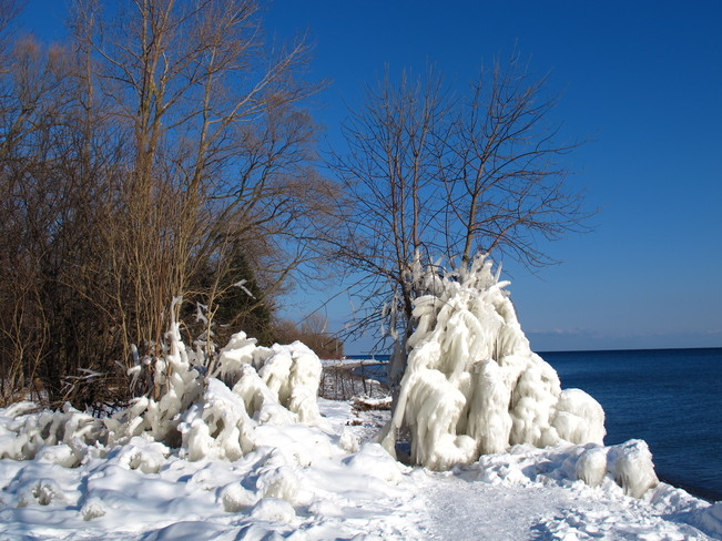 Along the shore of Lake Ontario Ajax, Ontario Canada
