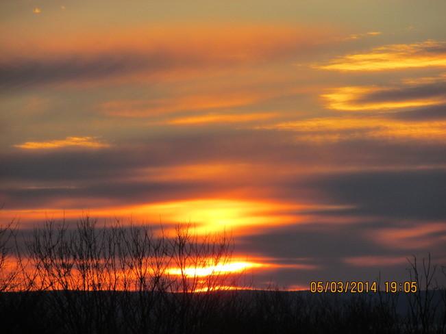 sun set Joggins, Nova Scotia Canada