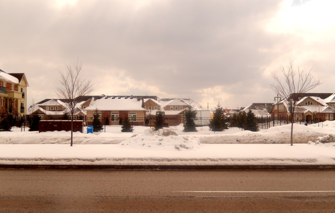 A white Toronto in March !! ... Markham, Ontario Canada